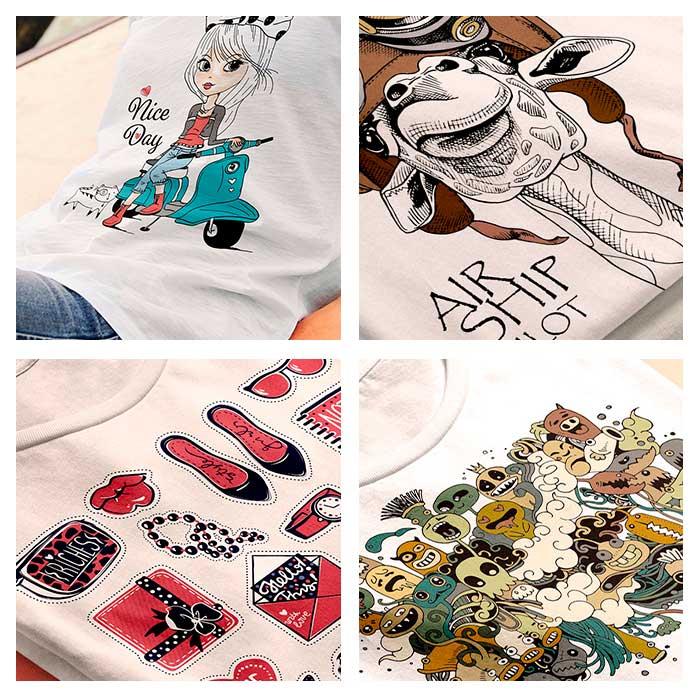 Impresión camisetas blancas